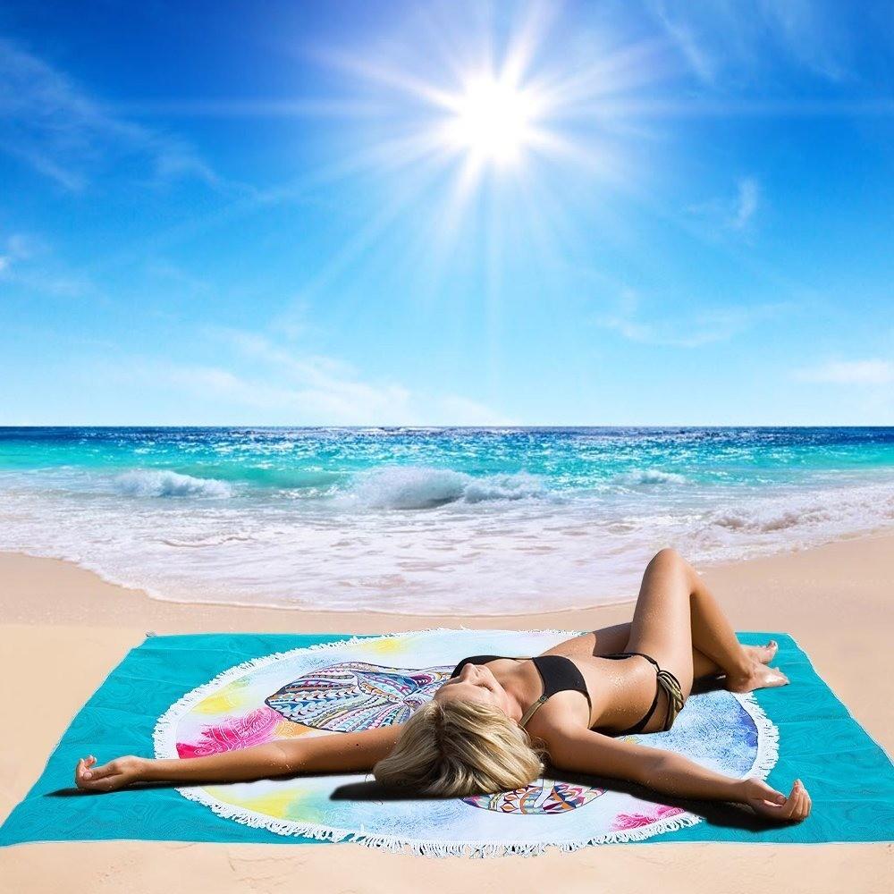 Toalla De Playa Anti Arena Doble Capa Onlineclub D Nq Np 971244 Mlc26002465548 092017 F