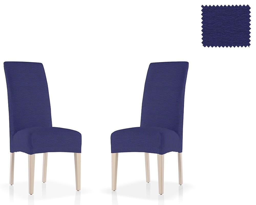 Azul1pack De 2 Capas Com Espaldar Para Cadeira Elasticas Monzon