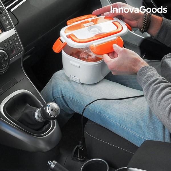 Lancheira Eletrica Para O Carro Innovagoods 40w 12 V Branco Laranja (2)