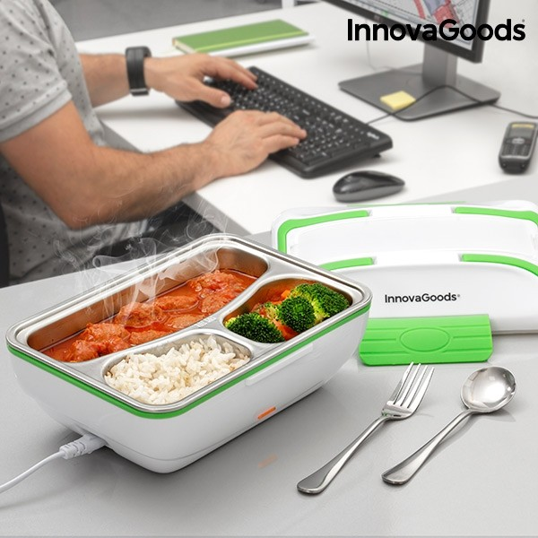 Lancheira Eletrica Pro Innovagoods 50w Branca Verde